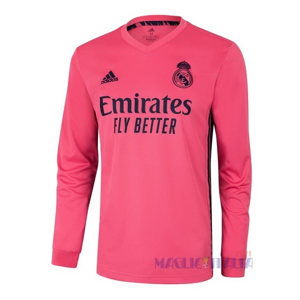 Away Manga Larga Real Madrid 2020 2021 Rosa Completi Calcio Squadre